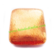 Copper Brushed Beads, size: 28.5x24.5x9mm, weight: 7.44 grams.