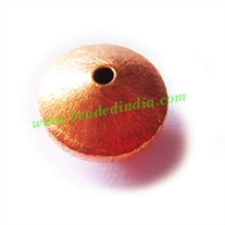 Copper Brushed Beads, size: 10.5x16mm, weight: 3.32 grams.