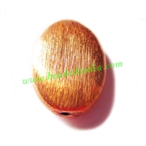 Copper Brushed Beads, size: 22x16.5x7mm, weight: 3.1 grams.