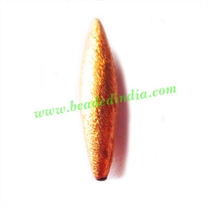 Copper Brushed Beads, size: 35x7.5mm, weight: 2.57 grams.