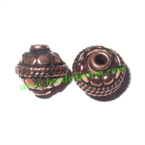 Copper Metal Beads, size: 8x8mm, weight: 1.03 grams.
