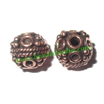Copper Metal Beads, size: 8x8mm, weight: 1.39 grams.