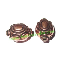 Copper Metal Beads, size: 15x11x10mm, weight: 1.27 grams.