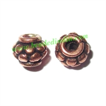 Copper Metal Beads, size: 5x6mm, weight: 0.66 grams.