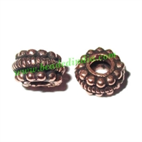 Copper Metal Beads, size: 5x8mm, weight: 1.05 grams.