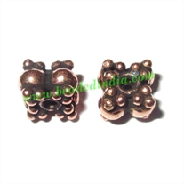 Copper Metal Beads, size: 5x6mm, weight: 0.89 grams.