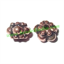 Copper Metal Beads, size: 5x7mm, weight: 0.96 grams.