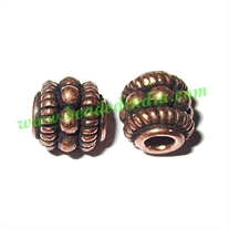 Copper Metal Beads, size: 7x7mm, weight: 1.28 grams.