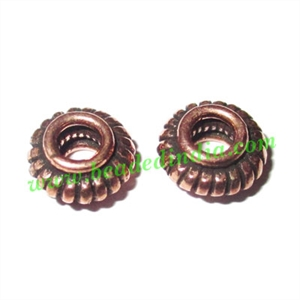 Copper Metal Beads, size: 4x8mm, weight: 0.78 grams.