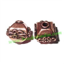 Copper Metal Beads, size: 6x6mm, weight: 1.97 grams.