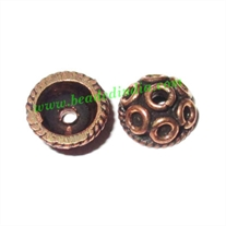 Copper Metal Caps, size: 4x8mm, weight: 0.59 grams.