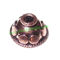 Copper Metal Caps, size: 6x12mm, weight: 1.19 grams.