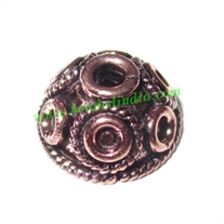 Copper Metal Caps, size: 7x13mm, weight: 1.74 grams.