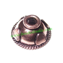 Copper Metal Caps, size: 7x13mm, weight: 1.14 grams.