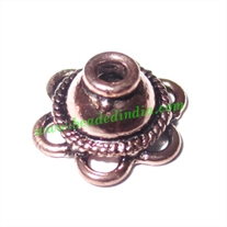 Copper Metal Caps, size: 6x13mm, weight: 1 grams.