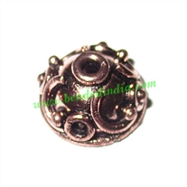 Copper Metal Caps, size: 7x13mm, weight: 1.73 grams.