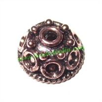 Copper Metal Caps, size: 6x13mm, weight: 1.67 grams.