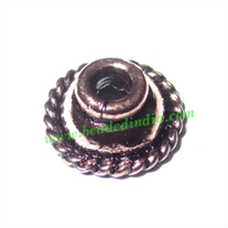 Copper Metal Caps, size: 4x8mm, weight: 0.34 grams.