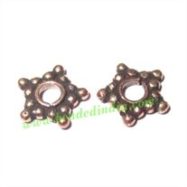 Copper Metal Spacers, size: 1.5x9mm, weight: 0.34 grams.