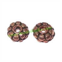 Copper Metal Spacers, size: 2.5x6mm, weight: 0.5 grams.