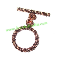 Copper Toggle Clasps, size when expanded: 37x32mm, weight: 4.39 grams.