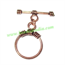 Copper Toggle Clasps, size when expanded: 30x31mm, weight: 1.84 grams.