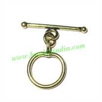 Copper Toggle Clasps, size when expanded: 34x24mm, weight: 2.35 grams.