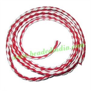 Braided Hunter Cotton Wax Cords, size: 3mm