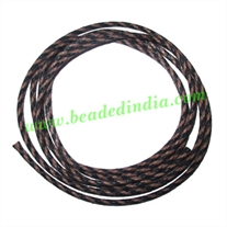 Braided Cotton Wax Cords, size: 2mm