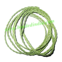 Braided Hunter Cotton Wax Cords, size: 4mm