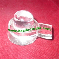 Crystal sphatik shiv linga, weight approx 55 grams