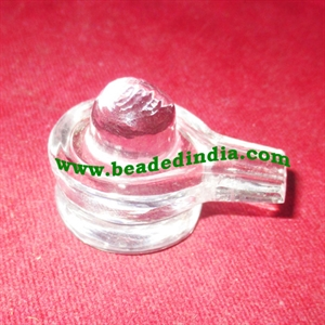 Crystal sphatik shiv linga, weight approx 29 grams