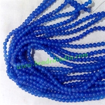 Agate Blue 4mm round prayer beads mala of 108 beads