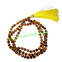 Tiger Eye 4mm round prayer beads mala of 108 beads