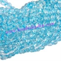 Blue Topaz Dyed 7mm round prayer beads mala of 108 beads