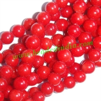 Red Coral 7mm round prayer beads mala of 108 beads