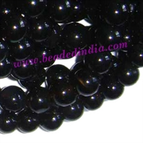 Blackstone 8mm round semi precious gemstone beads.