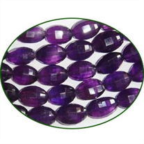 Fine Quality Amethyst Faceted Oval, size: 7x9mm to 9x12mm