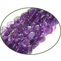 Fine Quality Amethyst Plain Coin, size: 5mm to 7mm