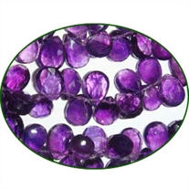 Fine Quality Amethyst Faceted Pears, size: 7x9mm to 8x12mm