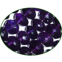 Fine Quality Amethyst Faceted Roundell, size: 11 to 14mm