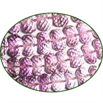 Fine Quality Amethyst Pink Faceted Roundel, size: 10mm to 13mm