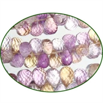 Fine Quality Ametrine Faceted Drops, size: 8mm to 10mm