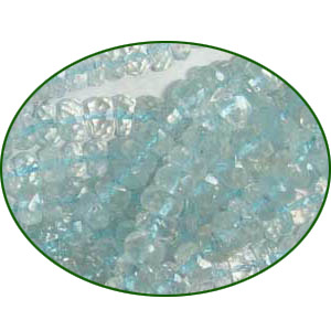 Fine Quality Aquamarine Faceted Roundel, size: 5mm to 6mm
