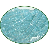 Fine Quality Aquamarine Plain Tyre Wheel, size: 5mm to 7mm