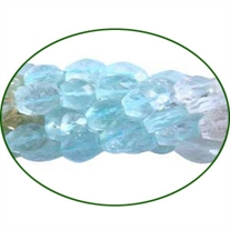 Fine Quality Aquamarine Multi Faceted Oval, size: 6x8mm to 7x9mm