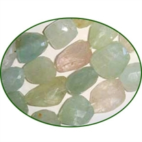 Fine Quality Aquamarine Multi Faceted Tumble, size: 15mm to 25mm