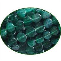 Fine Quality Aventurine Plain Coin, size: 8mm to 10mm