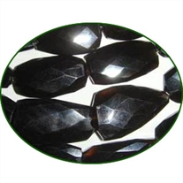 Fine Quality Black Onyx Faceted Flat Tumble, size: 20mm to 30mm