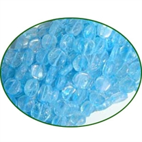 Fine Quality Blue Topaz Dyed Coin, size: 7mm to 8mm